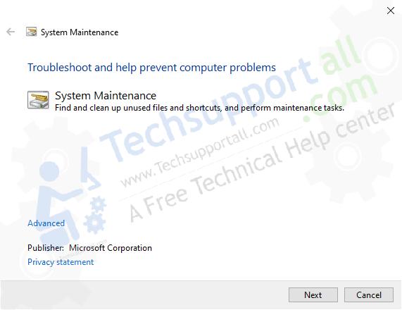 start system maintenance