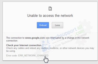 chrome connection interrupted