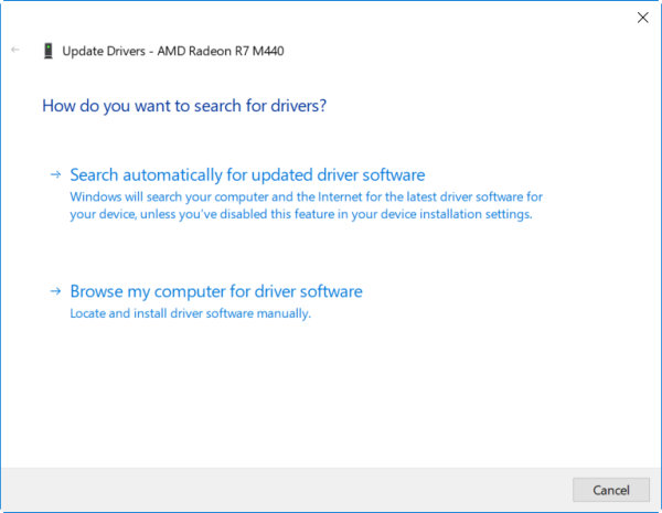 Search and Install latest driver