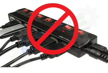 stop using USB hub