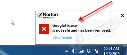 GoogleFix.exe-cought-by-norton