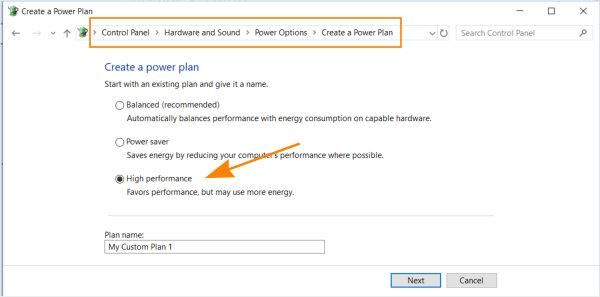 Switch Power Plan