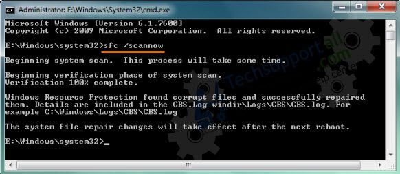 sfc command to repair the windows update