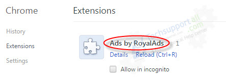Royalads extension