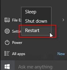 reboot computer due to ip conflicting