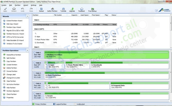 fix it through AOMEI Partition tool