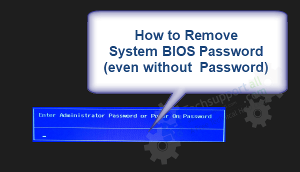 Remove System bios password