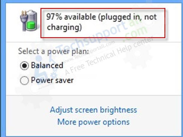 laptop battery not charging issue