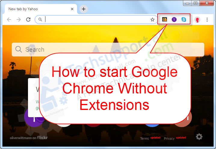 Start chrome without extensions