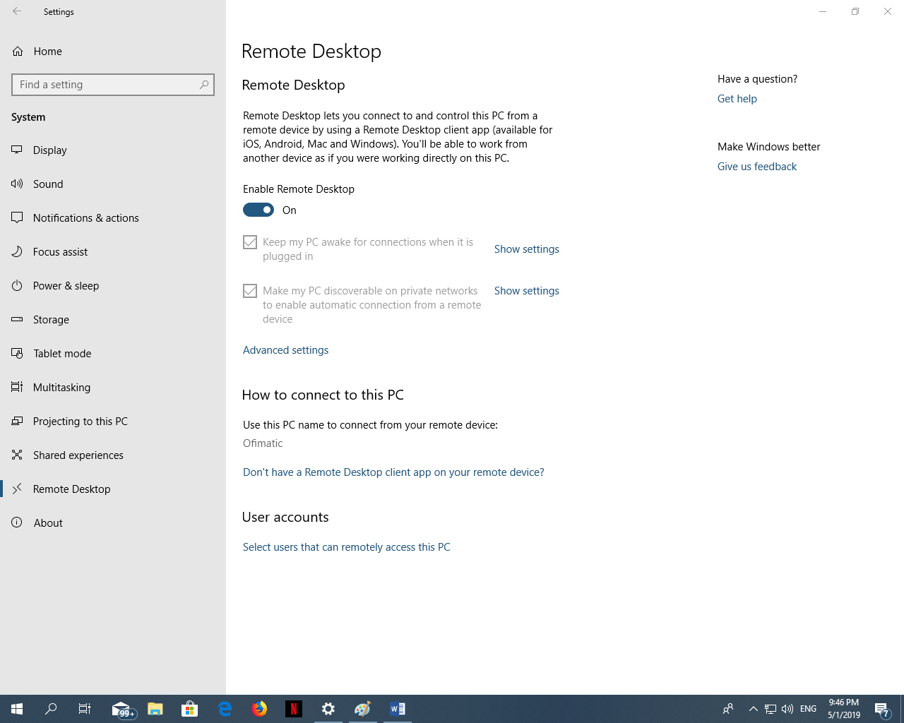 How to use remote desktop connection (RDP) in Windows 10 - Tech
