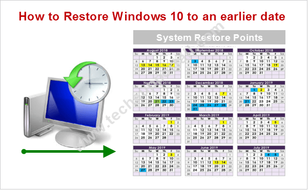 Restore Windows 10 to previous restore point