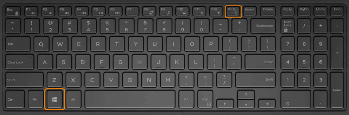 Using keyboard keys to take a screenshot on Windows
