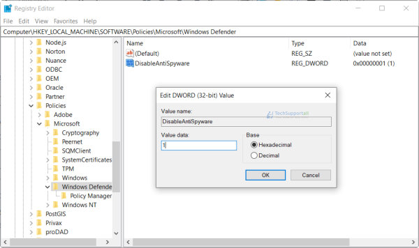 How to enable / disable Microsoft Windows Defender in