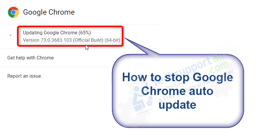 how to stop auto update chrome