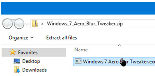 Select Windows Aero