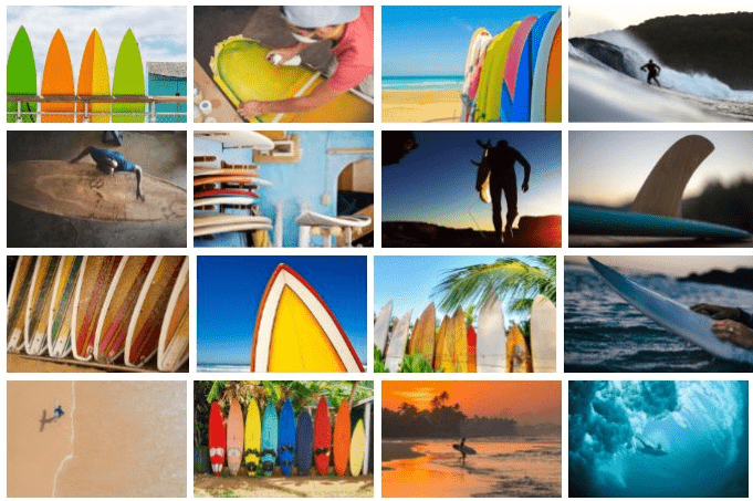 Surfboards theme for Windows 10