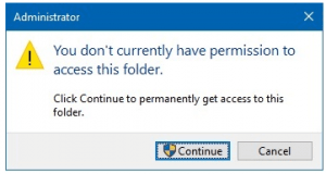 permission to access this folder error
