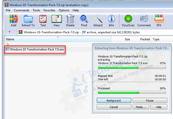 set Windows 10 theme in Windows 7 step 2