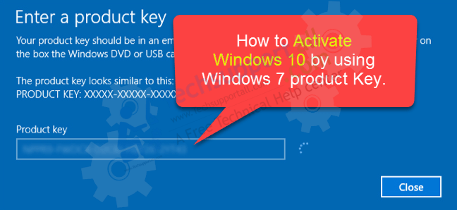Activate Windows 10 with a Windows 7 key
