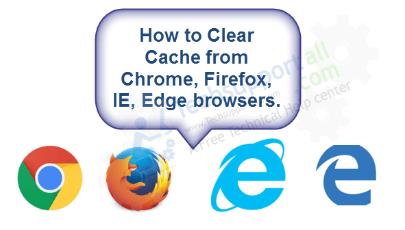Clear cache from browsers