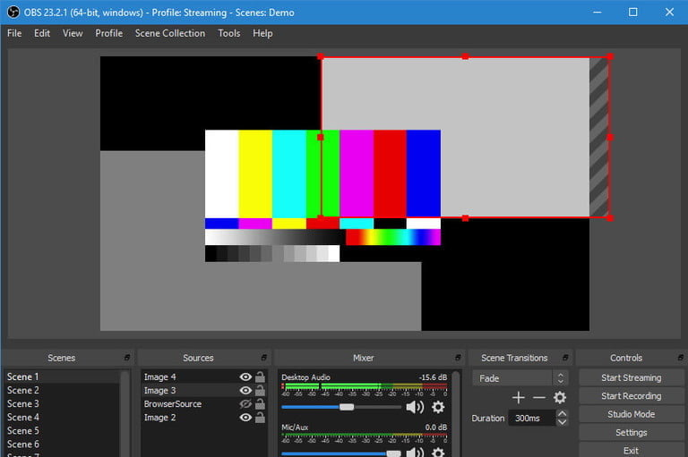 OBS game streaming, screen streaming software