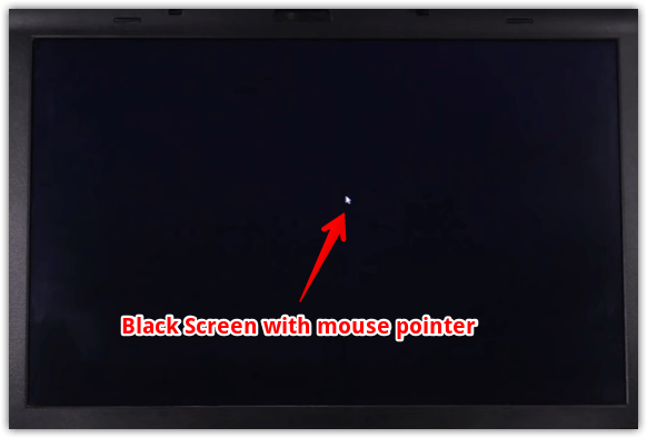 Black Screen With Cursor