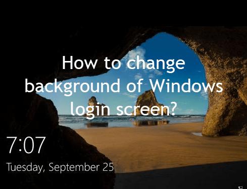 change login screen image