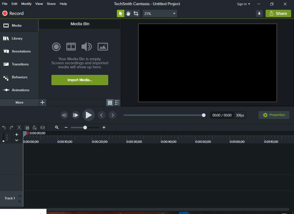 Camtasia - software preview