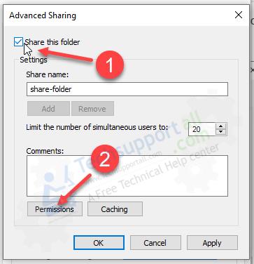 enable share folder