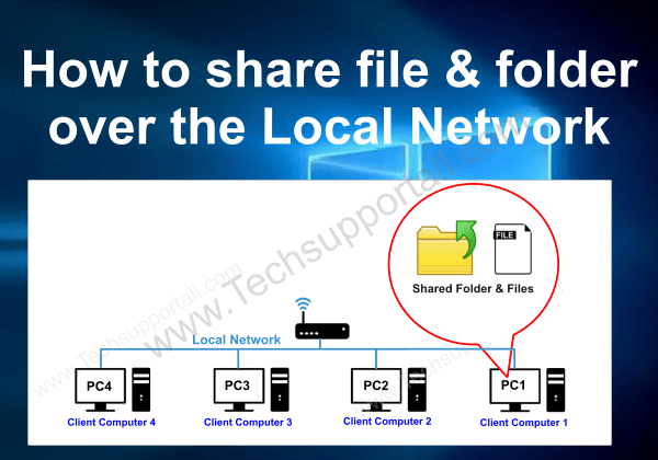 share folder over the network cover page