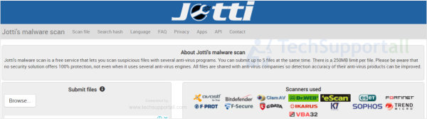 Jotti - Multi engine online scanner