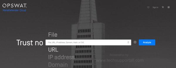 opswat metadefender - free online malware scanner