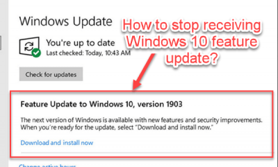 Windows 10 feature update New