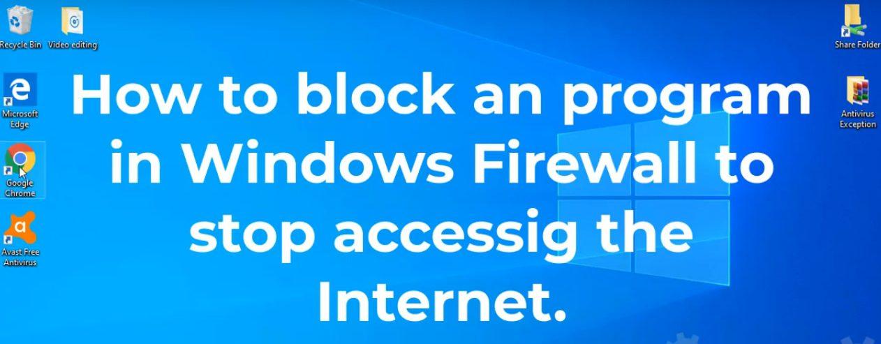 block a program through firewall