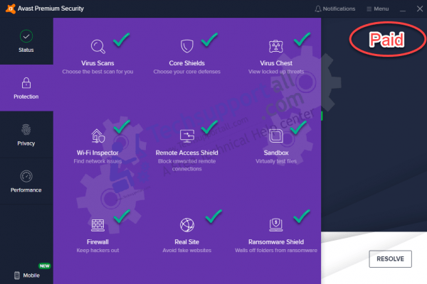 Avast total security unlocked features