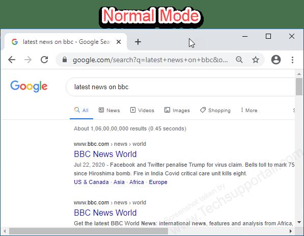 Google Chrome Normal Mode