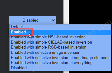 click on the drop down menu and select enabled