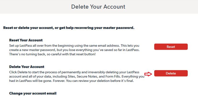 delete reset