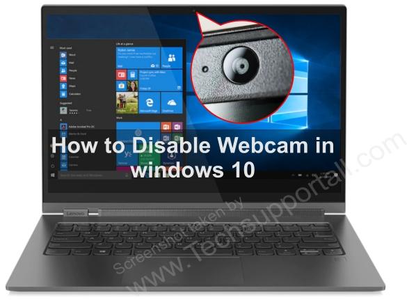 disable webcam