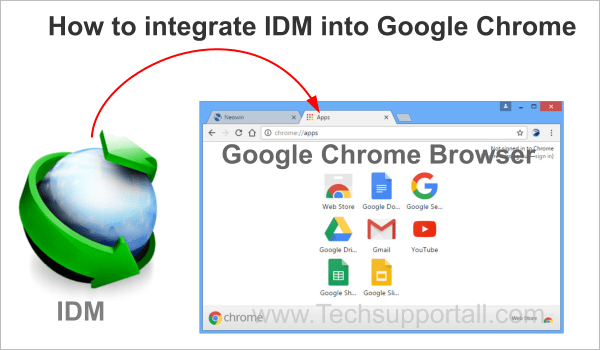 integrate idm into chrome