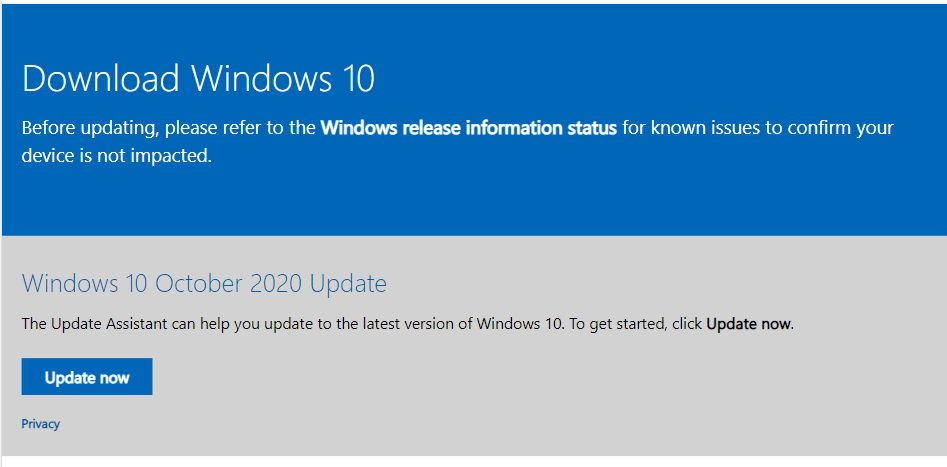 Download Windows 10 without waiting