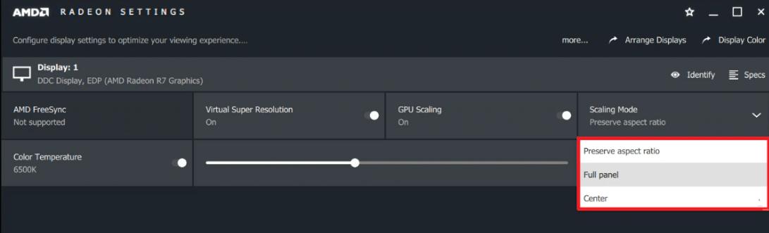 scaling mode