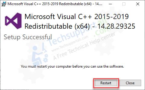 restart-ms-visual-c++