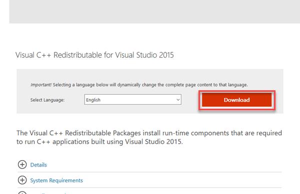 install visual C++