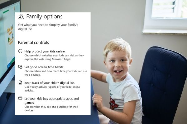 Microsoft family safety and parental control in windows