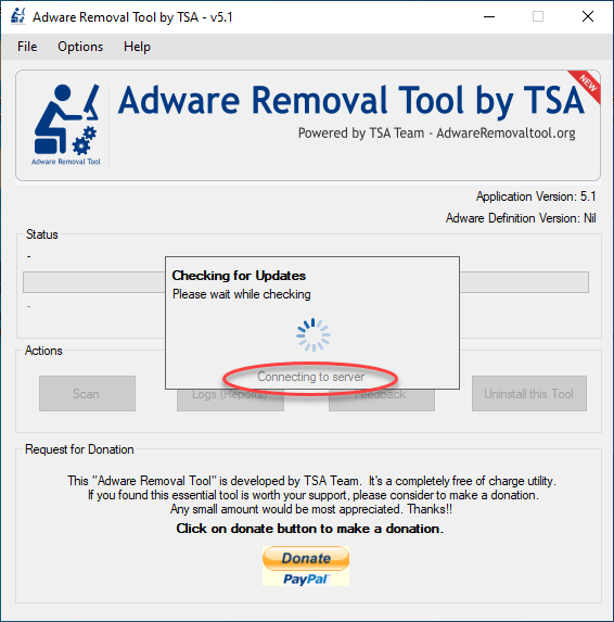 adware removal tool database update