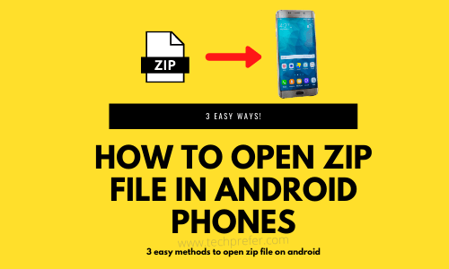 open zip file in android phones