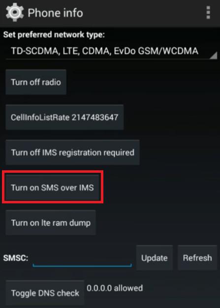 sms ims