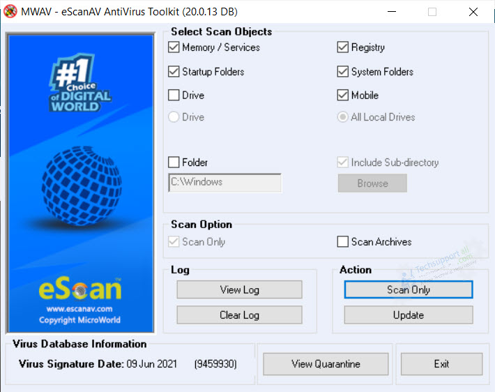 eScan Portable antivirus toolkit to rescue infected PC - MWAV